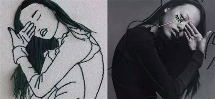 用刺绣勾勒日常  这位超模有点帅