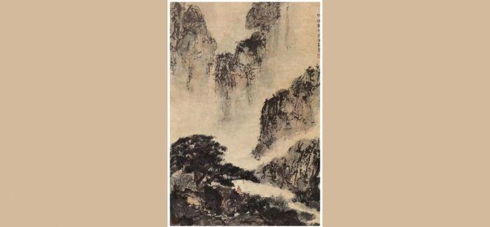 嘉德春拍:傅抱石《山居读书图》和《云山高士图》