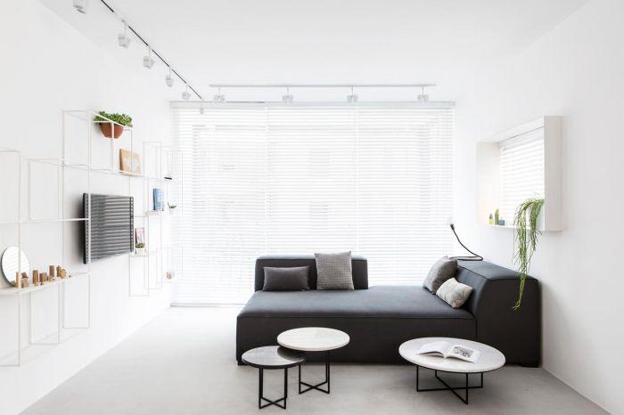 设计  这是一套80平米的长条形公寓