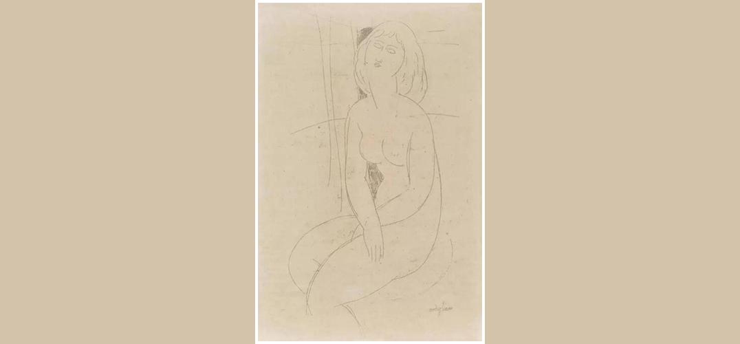 嘉德春拍:莫迪里阿尼《侧坐的裸女》