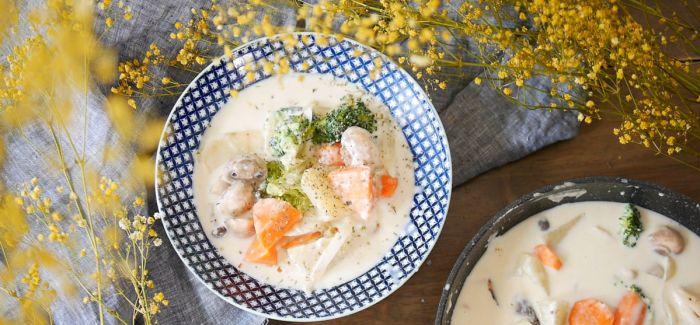 来自深夜食堂的蔬食料理 奶汁白酱炖菜