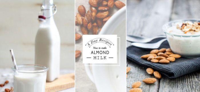 比牛奶更好更助瘦身的选择 自制欧美当红杏仁奶