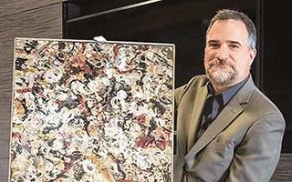 美国一车库现神秘油画 预计拍卖价一亿