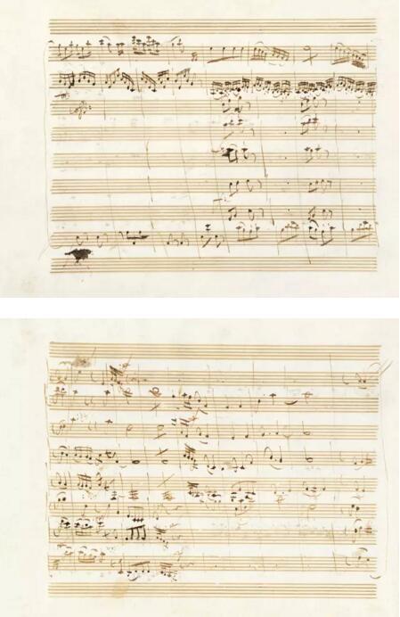 春拍 莫扎特 D大调小夜曲 乐谱手稿