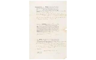 嘉德春拍:浪漫主义钢琴诗人肖邦著作权文件