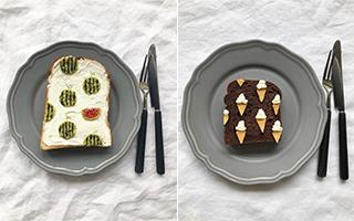 单片吐司的艺术 好吃又好看的「花样吐司」