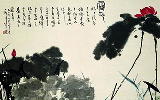 谈潘天寿花鸟画的布置