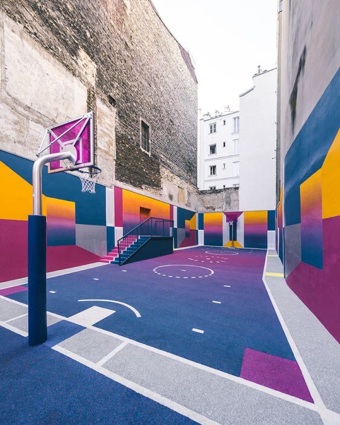 巴黎的彩虹篮球场_设计_生活方式_凤凰艺术