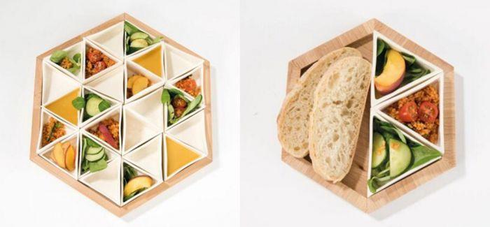 拼凑你的三角食器 眼鼻口一起享受美食飨宴