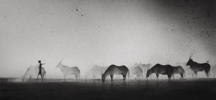 波兰艺术家用绘画的方式来战胜自己的孤独和忧郁