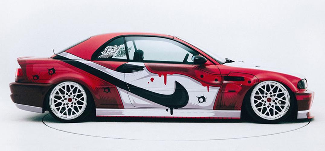 以 Air Jordan 球鞋为主题的宝马M3改装车