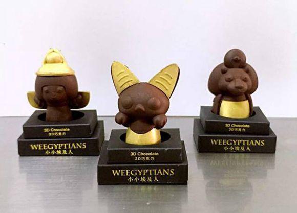 根据埃及神话形象制作的3D巧克力公仔对孩子们来说无疑是最好的礼物。