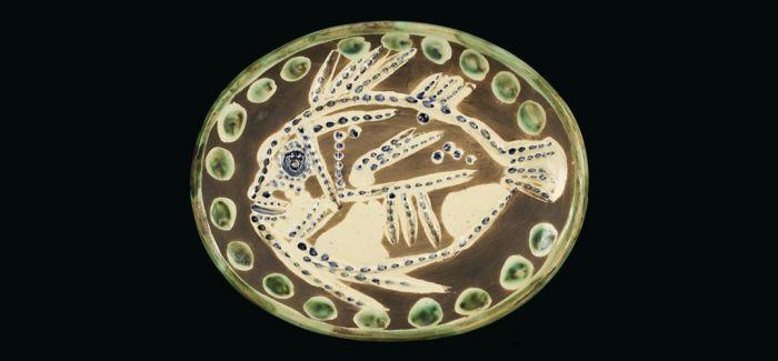 毕加索亲制银盘陶器展亮相北京中华世纪坛