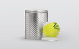 用废弃的网球做成的hearO蓝牙音响