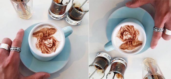这样的咖啡会舍不得喝的