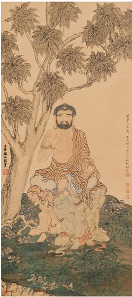 Lot518 金 农(1687~1763) 罗汉图 起拍价RMB-450万 成交价RMB- 920万元