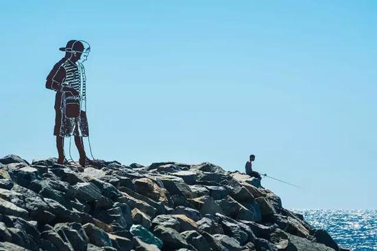 Zadok Ben-David, Big Boy, Sculpture by the Sea, Cottesloe 2017。 Photo Richard Watson