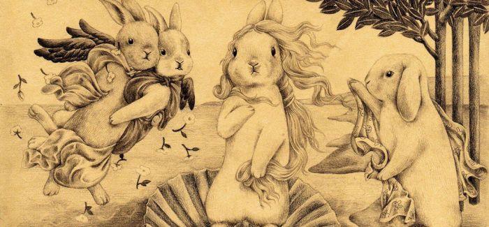 萌翻众人!当兔子遇上世界名画