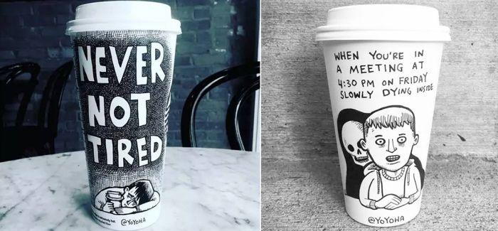 当插画师碰到咖啡!
