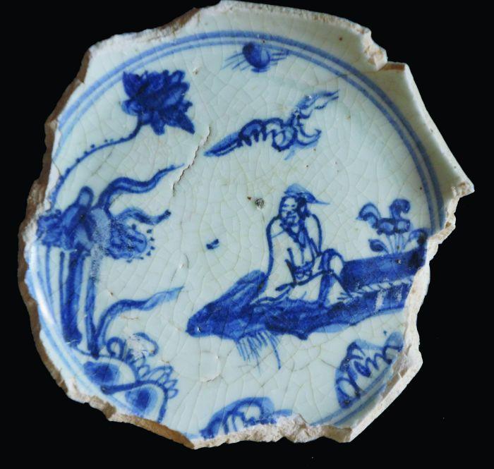 """明中期民窑瓷器""""爱莲""""纹的画法图1"""