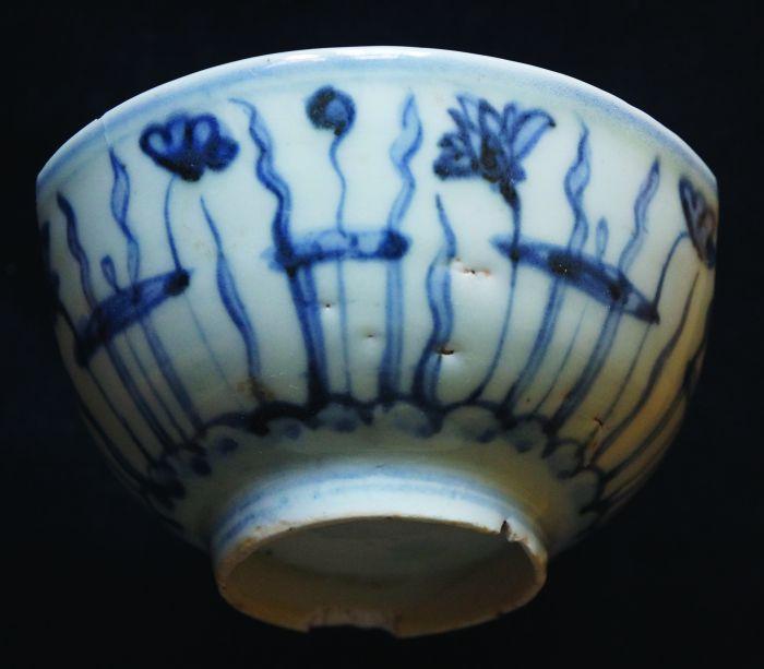 """明中期民窑瓷器""""爱莲""""纹的画法图5"""
