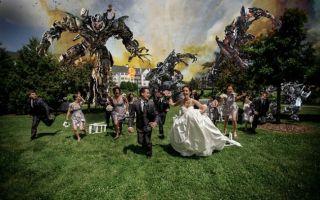 创意的婚纱照:爱情和科幻完美融合!
