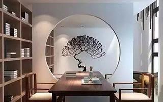 极简中国风圆镜设计