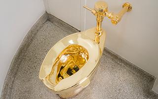 """18K""""金马桶""""将结束在古根海姆博物馆的展出"""