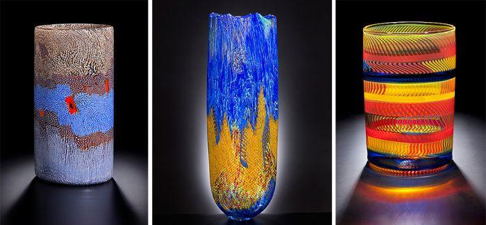 曲线=稳定美!八旬艺术家玩转玻璃