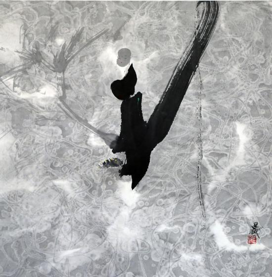 田旭桐《风和春润》 纸本水墨 :68×68cm   2011年
