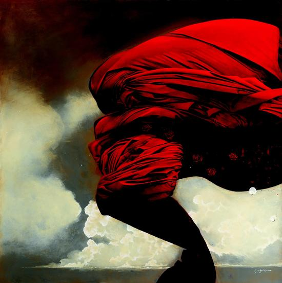 Lethbridge Gallery from Australia, Brett Lethbridge, Sow The Wind, Acrylic on canvas, 150 x 150cm, 2006