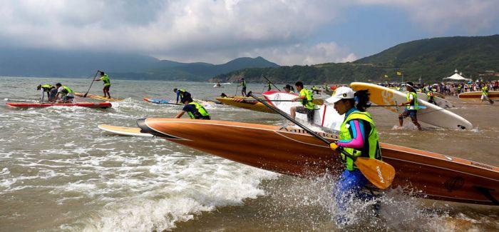 2017 WPA-China舟山桨板冲浪环岛赛盛大开幕