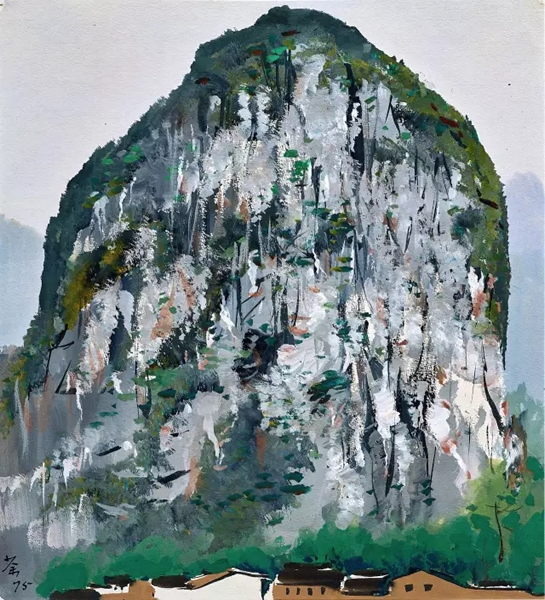 景观手绘山石色彩