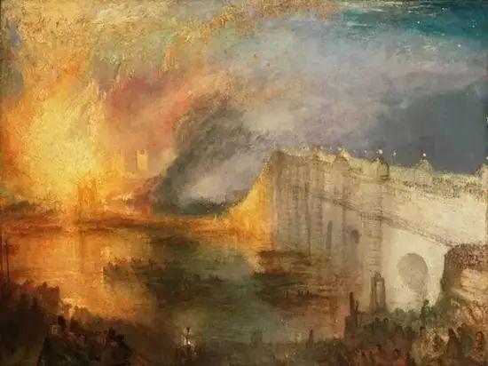 与康斯太勃尔平静的风景不同,特纳的画中充满了震撼人心的效果,显示出