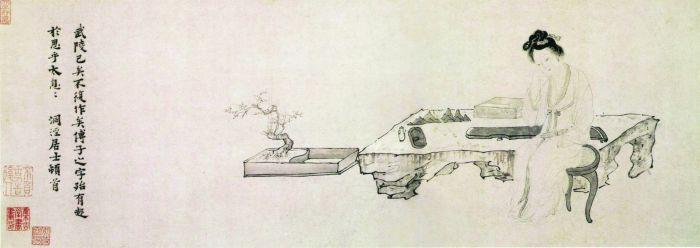 《武陵春图卷》 吴伟明 纵27.5厘米 横93.9厘米 纸本 墨笔 故宫博物院藏
