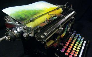 """能打出彩虹的""""打字机"""""""