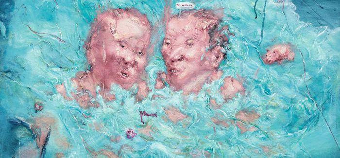苏富比现当代艺术晚拍呈现刘炜《游泳》系列作品