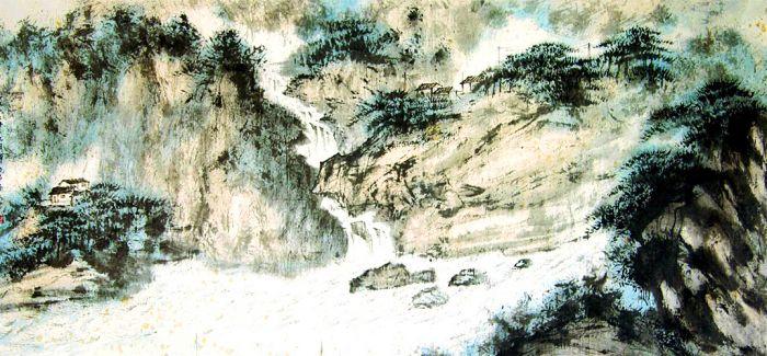 江山无限走龙蛇 不辨泉声抑雨声