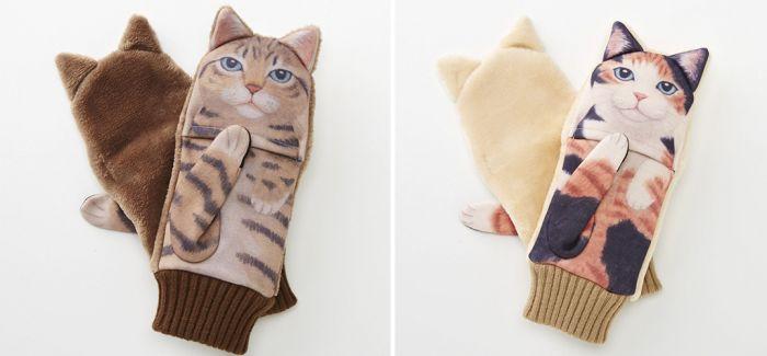 冬天的手套 就决定是猫猫了!