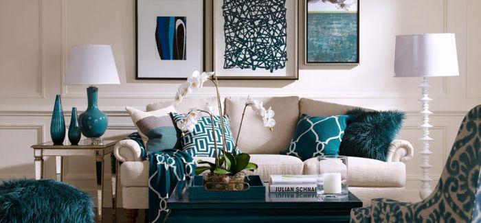 神秘蓝绿色 装扮舒适的家