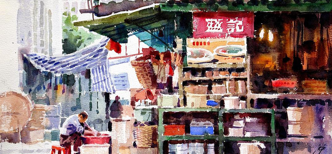 怀旧泛黄的老香港