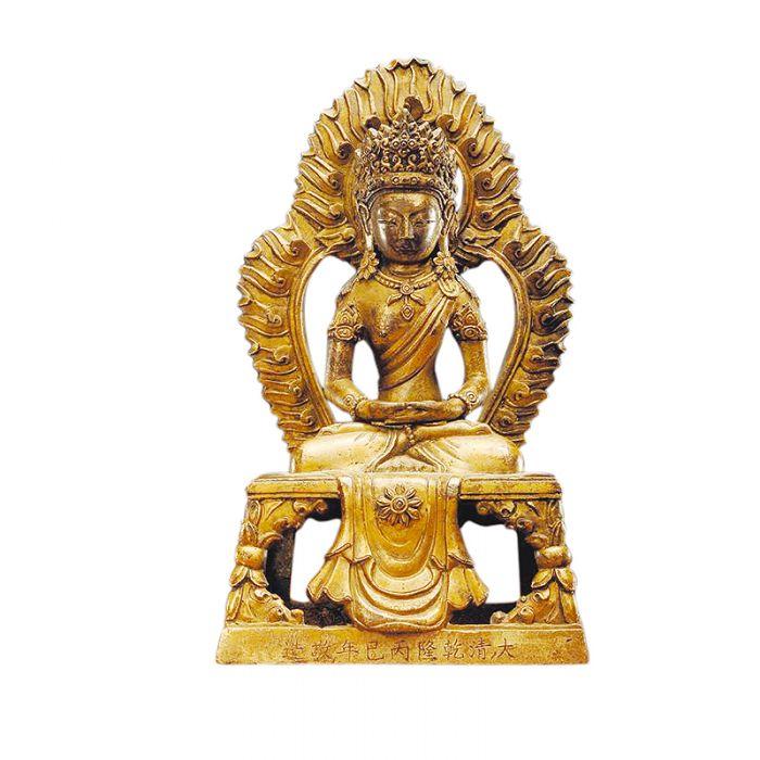 尊神无量寿佛:清乾隆铜鎏金十一面观音像