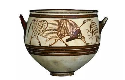 带有远古气息的文化鞋,图腾纹样来自于希腊的双耳喷口罐.