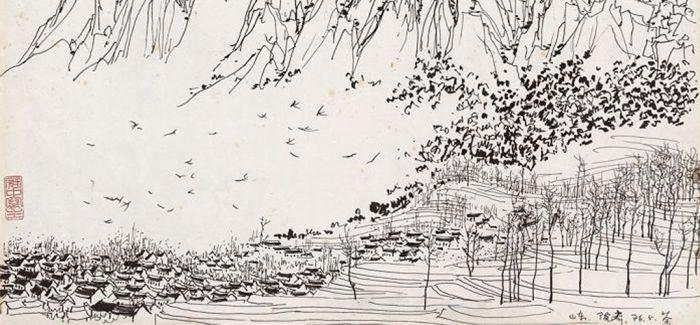 吴冠中的东方水墨与西方油彩