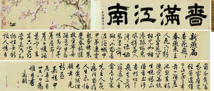 1544年作 新燕篇诗意卷 手卷 设色绢本 北京保利十二周年春季拍卖会 RMB  36,225,000
