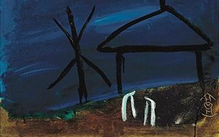 《蓝色风景》:丁衍庸的油画新风