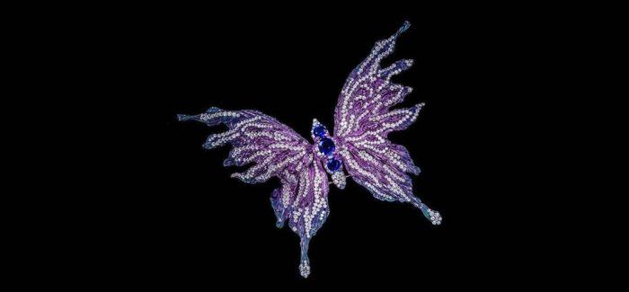 用宝石的华贵来衬托昆虫的灵动