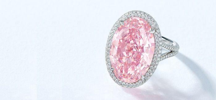 这颗14.93克拉的粉钻可能会打破拍场最高纪录