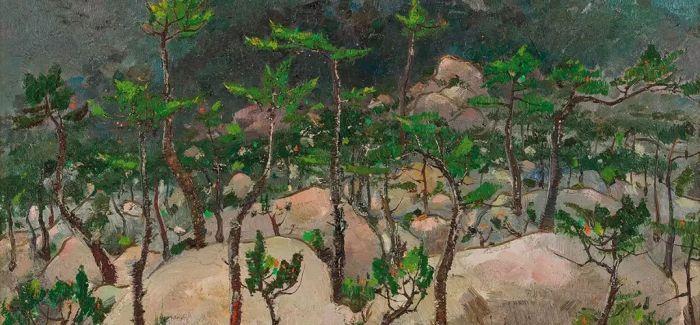 林风眠《烟松闲居》登陆二十世纪艺术夜场