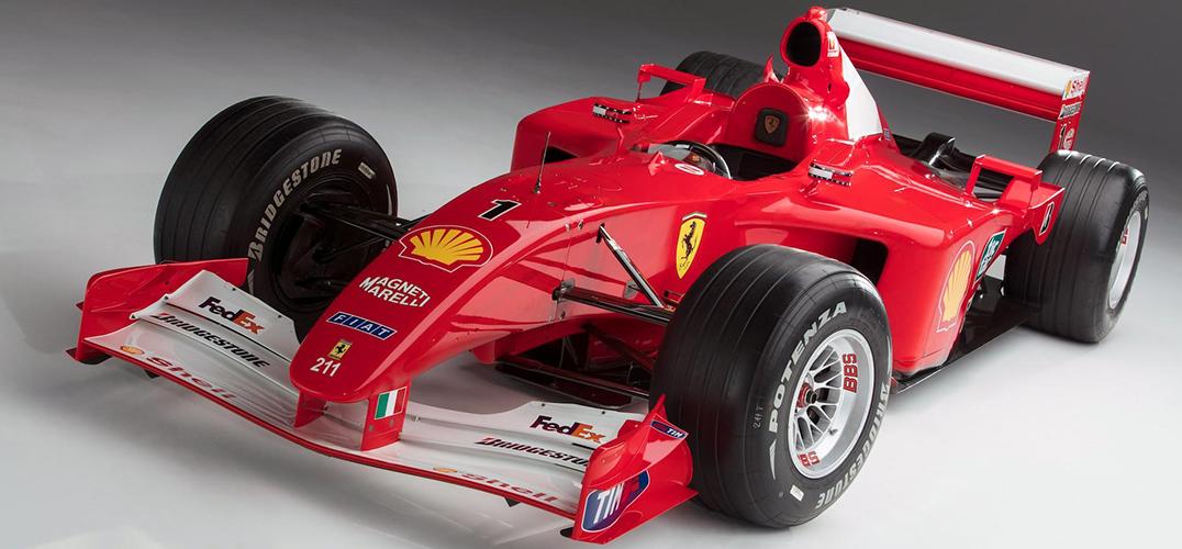 舒马赫F1被拍卖 缔造最贵赛车